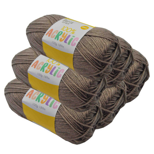 Acrylic Yarn 100g 189m 8ply Taupe (Product # 093122)