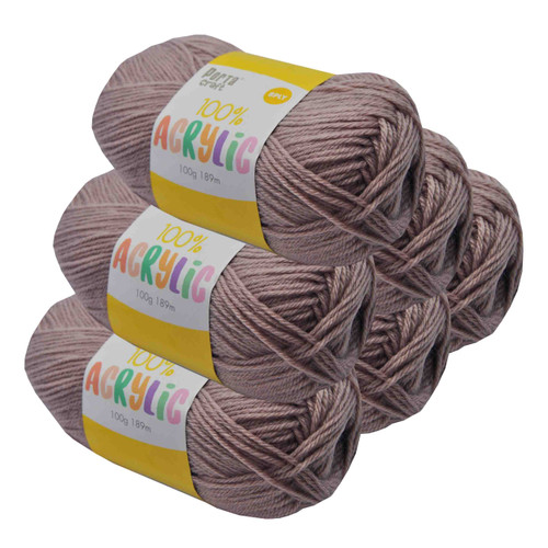Acrylic Yarn 100g 189m 8ply Fawn (Product # 093139)