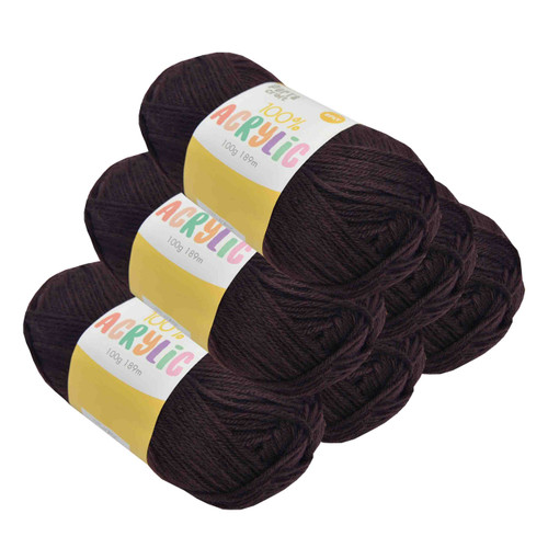 Acrylic Yarn 100g 189m 8ply Chocolate (Product # 093146)