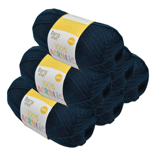 Acrylic Yarn 100g 189m 8ply Navy (Product # 093153)