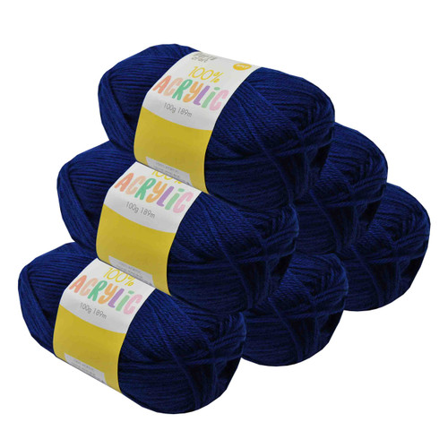 Acrylic Yarn 100g 189m 8ply Royal Blue (Product # 093160)