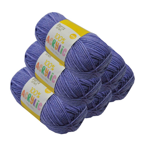 Acrylic Yarn 100g 189m 8ply Lavender (Product # 093184)