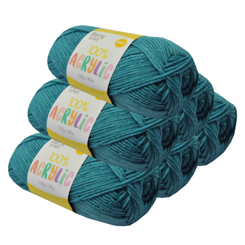 Acrylic Yarn 100g 189m 8ply Aqua (Product # 093191)