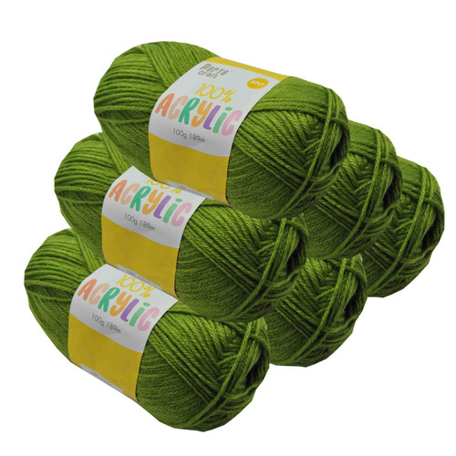 Acrylic Yarn 100g 189m 8ply Tree Frog (Product # 093214)