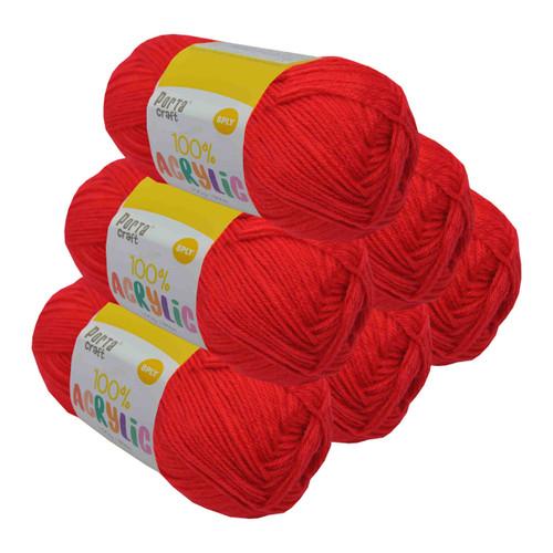 Acrylic Yarn 100g 189m 8ply Lipstick (Product # 093245)