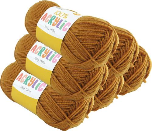 Acrylic Yarn 100g 189m 8ply Mustard (Product # 093269)