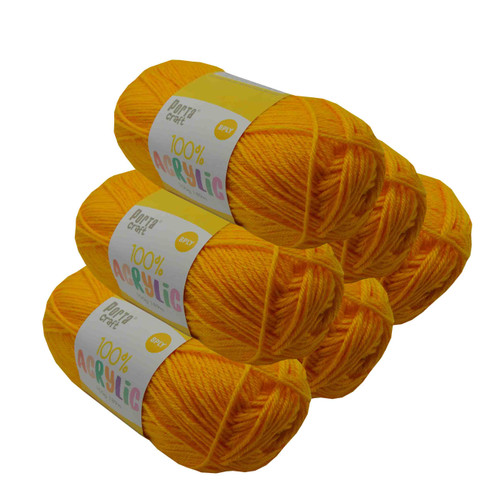 Acrylic Yarn 100g 189m 8ply Canary Yellow (Product # 093276)