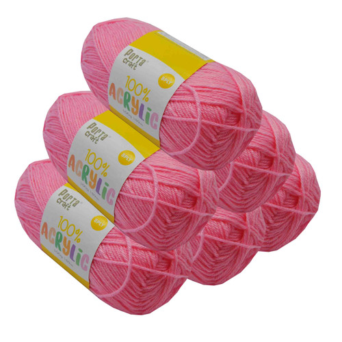 Acrylic Yarn 100g 189m 8ply Baby Pink (Product # 093313)