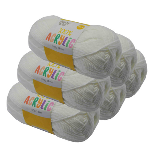 Acrylic Yarn 100g 189m 8ply Day Dream White (Product # 093344)
