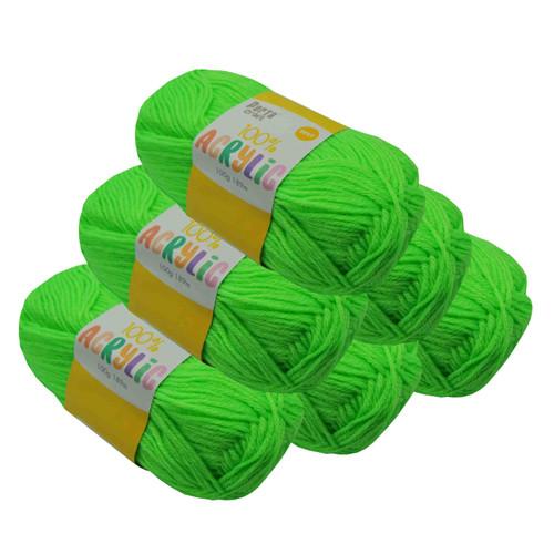 Acrylic Yarn 100g 189m 8ply Brite Green (Product # 122457)