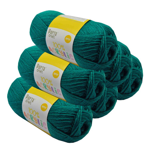 Acrylic Yarn 100g 189m 8ply Teal (Product # 122464)