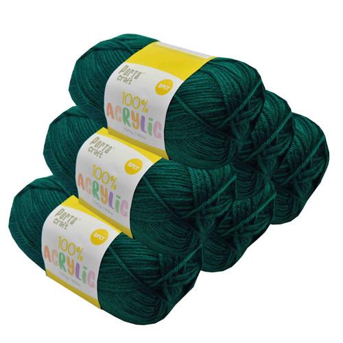Acrylic Yarn 100g 189m 8ply Forrest Green (Product # 122471)