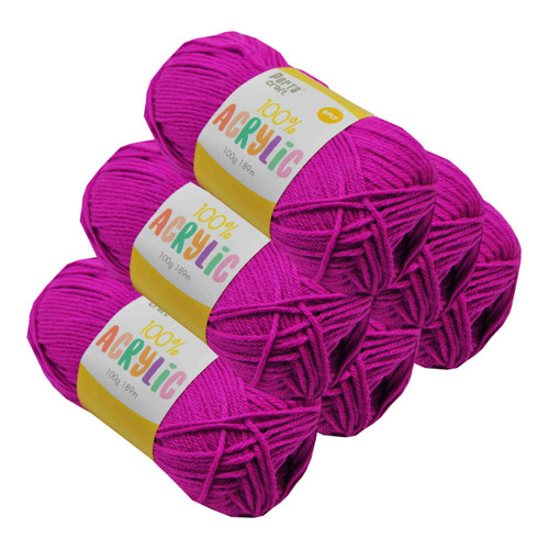 Acrylic Yarn 100g 189m 8ply Mulberry (Product # 122518)