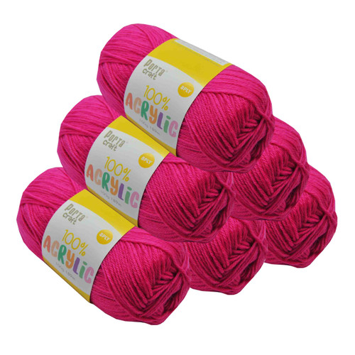 Acrylic Yarn 100g 189m 8ply Rose Pink (Product # 122525)