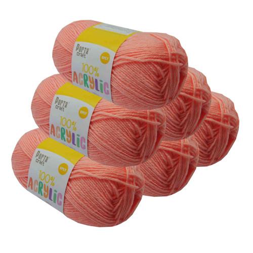 Acrylic Yarn 100g 189m 8ply Apricot (Product # 122556)