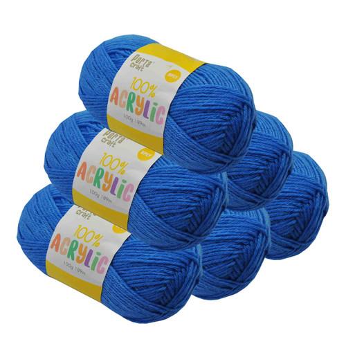 Acrylic Yarn 100g 189m 8ply True Blue (Product # 122624)