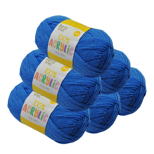 Acrylic Yarn 100g 189m 8ply True Blue (Product # 122624)