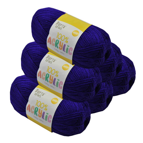 Acrylic Yarn 100g 189m 8ply Purple Surprise (Product # 122631)