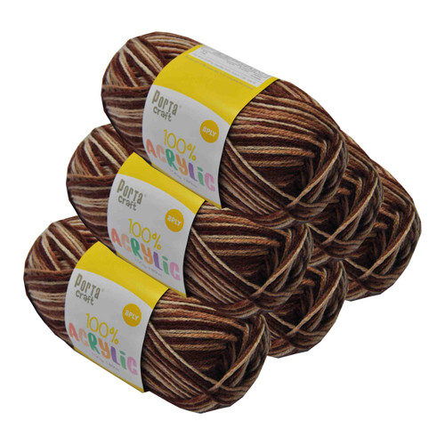 Acrylic Yarn 100g 189m 8ply Mahogany (Product # 093368)