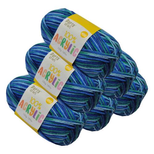 Acrylic Yarn 100g 189m 8ply Ocean (Product # 093382)