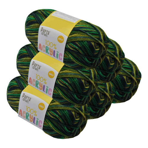 Acrylic Yarn 100g 189m 8ply Forrest Green (Product # 093405)