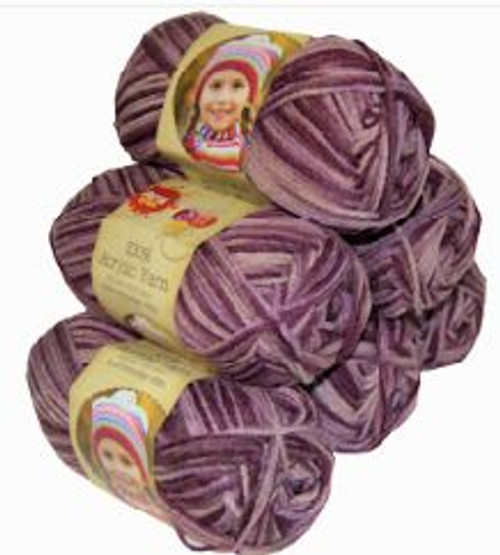 Acrylic Yarn 100g 189m 8ply Berry (Product # 093443)
