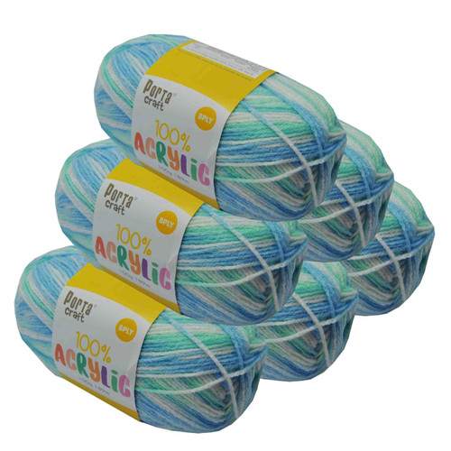 Acrylic Yarn 100g 189m 8ply Sea Shimmer (Product # 122662)