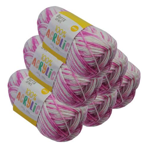 Acrylic Yarn 100g 189m 8ply Pinkie Pie (Product # 122686)