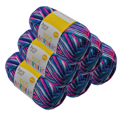 Acrylic Yarn 100g 189m 8ply Gobstopper (Product # 122709)
