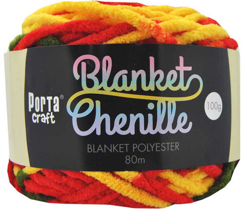 Chenille Blanket Yarn 100g 80m 12ply Citrus (Product # 151181)