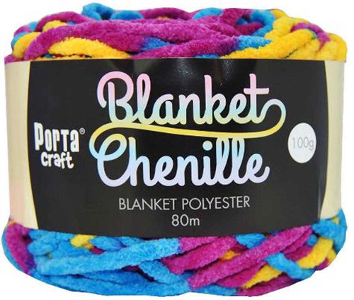 Chenille Blanket Yarn 100g 80m 12ply Crayons (Product # 151228)
