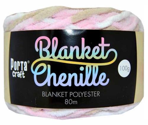 Chenille Blanket Yarn 100g 80m 12ply Mallow Mocha (Product # 151334)