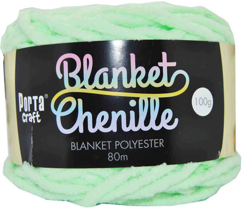 Chenille Blanket Yarn 100g 80m 12ply Mint (Product # 151402)