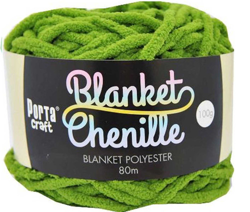 Chenille Blanket Yarn 100g 80m 12ply Shamrock (Product # 151419)