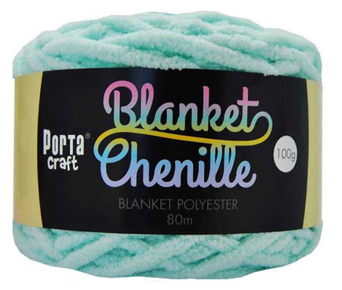Chenille Blanket Yarn 100g 80m 12ply Baby Blue (Product # 151440)