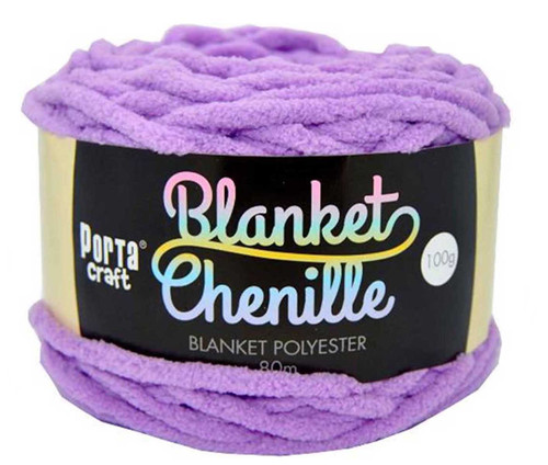 Chenille Blanket Yarn 100g 80m 12ply Lilac (Product # 151457)