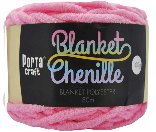 Chenille Blanket Yarn 100g 80m 12ply Light Pink (Product # 151488)