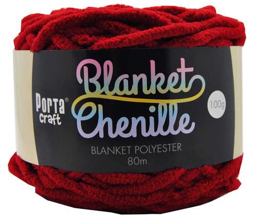 Chenille Blanket Yarn 100g 80m 12ply Crimson (Product # 152294)