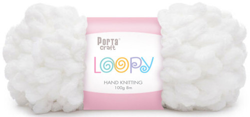 Loopy Yarn 100g 8m White (Product # 163207) (Hand Knitting)
