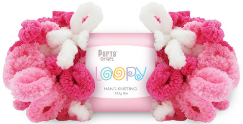 Loopy Yarn 100g 8m Pinks (Product # 163269) (Hand Knitting)