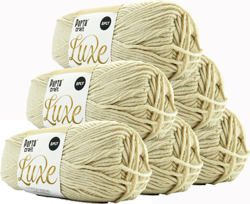 Luxe Cotton Blend Yarn 100g 220m 8ply Ivory (Product # 163290)