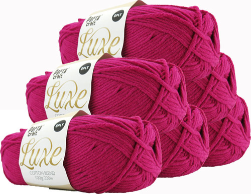 Luxe Cotton Blend Yarn 100g 220m 8ply Orchid (Product # 163337)