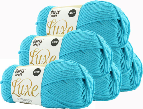 Luxe Cotton Blend Yarn 100g 220m 8ply Ocean (Product # 163375)