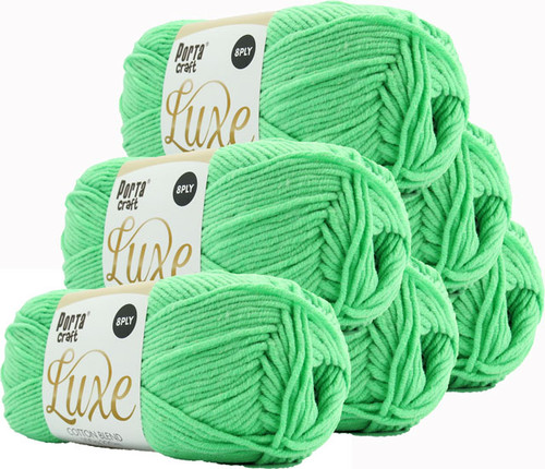 Luxe Cotton Blend Yarn 100g 220m 8ply Mint (Product # 163382)