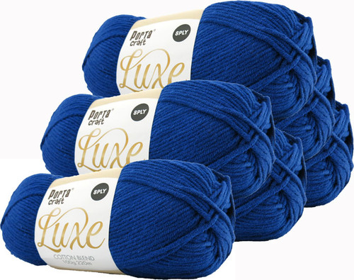 Luxe Cotton Blend Yarn 100g 220m 8ply Navy (Product # 163412)