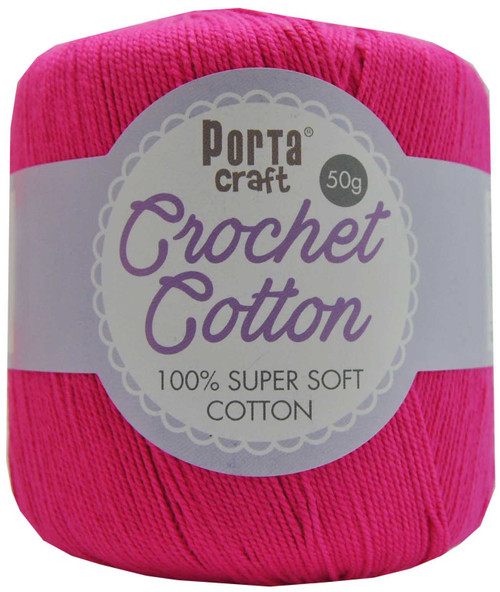 Crochet Cotton 50g 145m 3ply Fuchsia (Product # 156704)