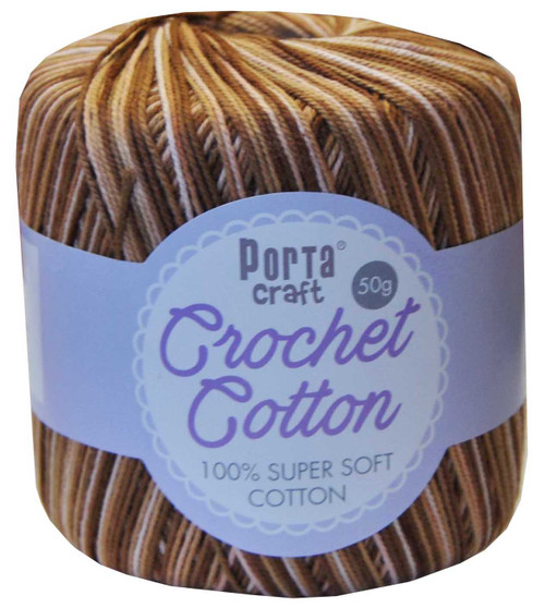 Crochet Cotton 50g 145m 3ply Earth (Product # 156865)