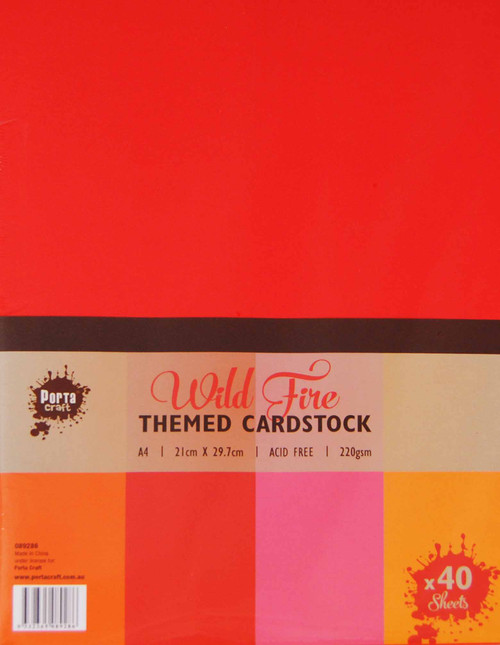 Colour Block (Assorted) A4 220gsm 40pk Wild Fire (Product # 089286)