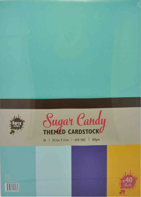 Colour Block (Assorted) A4 220gsm 40pk Sugar Candy (Product # 157008)