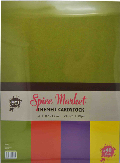 Colour Block (Assorted) A4 220gsm 40pk Spice Market (Product # 157015)